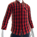 Street Check Shirt red