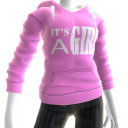 It's A Girl Hoodie - Pink
