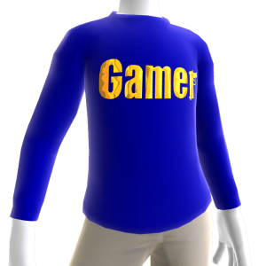 Blue Gamer Gold LS Shirt