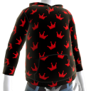 KKZ Black and Red Crown Hoodie