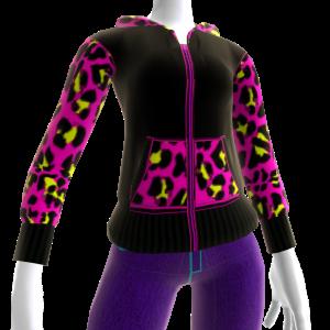 Pink Leopard Print Hoodie