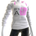 It's A Girl Hoodie - White