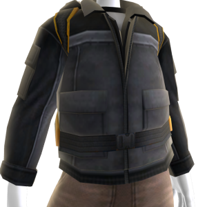 Panel Jacket and Backpack