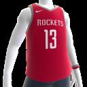 2018 Rockets Harden Jersey