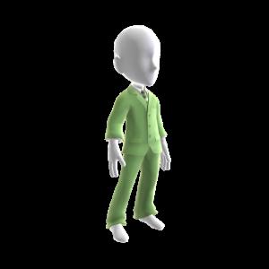 Pastellgrüner Anzug