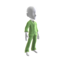 Traje verde pastel