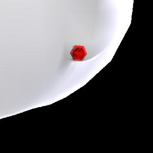 Ruby Platinum Stud Earrings