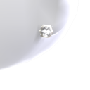 4ct Diamond Platinum Studs