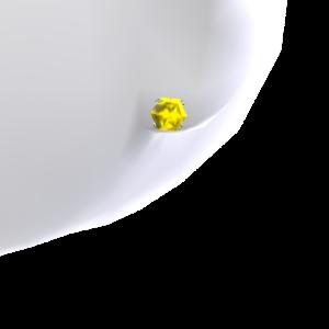 Canary Diamond Platinum Studs