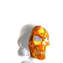 Skeleton Mask Orange Chrome
