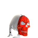 Skeleton Mask Red Chrome
