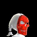 Skeleton Mask Red Chrome