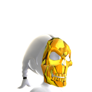 Skeleton Mask Gold Chrome