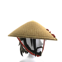 Samurai Bamboo Hat and Beard