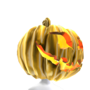 Gold Pumpkin Head