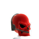 Red Gamer Skull Helmet