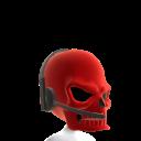 Red Gamer Skull Helmet