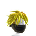 Black Archer Mask with Yellow Hair