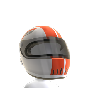 Casco de carreras blanco