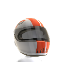 White Racing Helmet