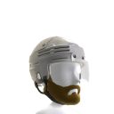 Playoff Beard with White Helmet 