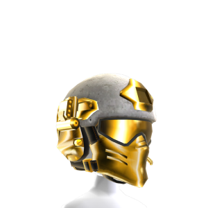 Modular Helmet - White and Gold