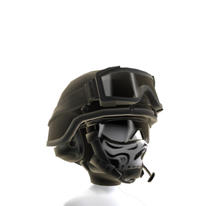 Military Patrol Helmet - Black