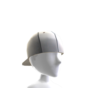 Backwards Baseball Cap - White