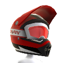 Casque Rainbow rouge