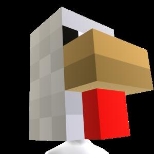 Cabeza de gallina de Minecraft