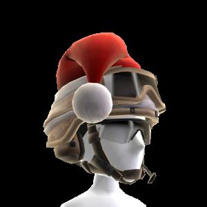 ゴーグルと白いヘルメット