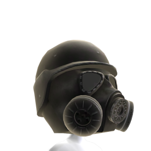 Gas Mask Black 2 Helmet