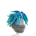 White Archer Mask with Blue Hair