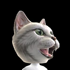 Epic Gray Cat Head Helmet