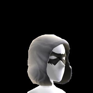 Black Hooded Domino Mask