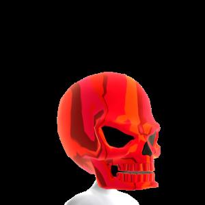 Epic Skull Helmet Red Chrome