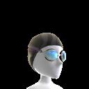 Bonnet de bain et lunettes