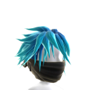 Black Archer Mask with Blue Hair