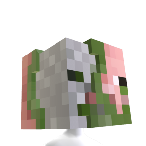 Zombie Pigman Head