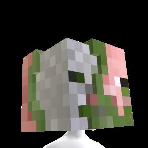 Zombie Pigman Head