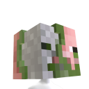 Cabeça de homem-porco zumbi