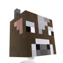 Minecraft Cow Head