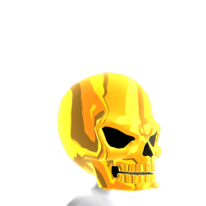 Epic Skull Helmet Solid Gold
