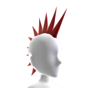 Apocalypse RED Spiked Mohawk
