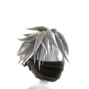 Black Archer Mask with White Hair