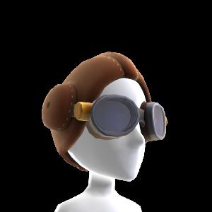 Lunettes et bonnet d'aviation de Snoopy