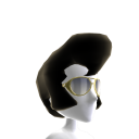 Ciuffo, basette e occhiali da aviatore