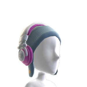 Ti Pink Fur Headphones