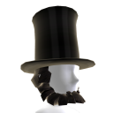 Stovepipe Hat and Beard