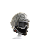 Arctic Camo Helmet with Goggles
